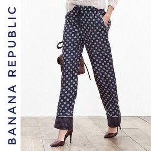NWT 100% Silk Banana Republic Wide Leg Pants XS